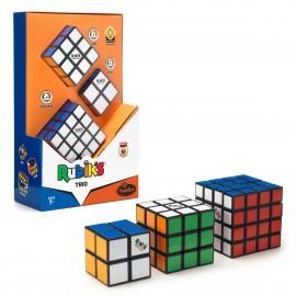 Комплект оригинални кубчета на Рубик 2x2 & 3x3 & 4x4 - С цветни пластини