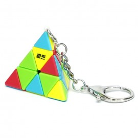 Ключодържател мини-пирамида QiYi MoFangGe Pyraminx - Stickerless