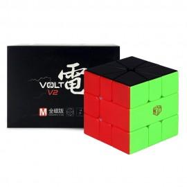 Магически пъзел за скоростно нареждане QiYi X-Man Volt Square-1 V2 Magnetic UD - Black Stickerless