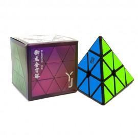 Магически пъзел за скоростно нареждане YongJun YuLong Pyraminx V2 Magnetic - Черен