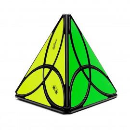 Магически пъзел QiYi MoFangGe Clover Pyraminx - Черен