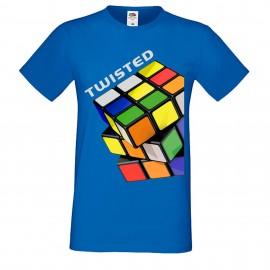 """Мъжка тениска с щампа """"Twisted"""""""