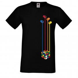 """Мъжка тениска с щампа """"Painting Cube"""""""