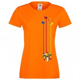 """Дамска тениска с щампа """"Painting Cube"""""""