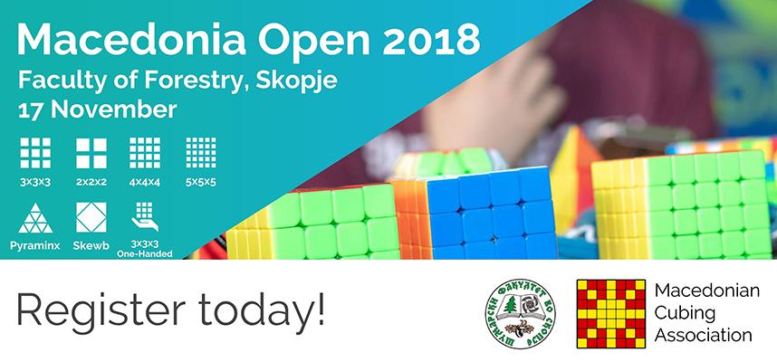 Macedonia Open 2018: Првиот натпревар во местење на рубикова коцка (speedcubing) во Македонија
