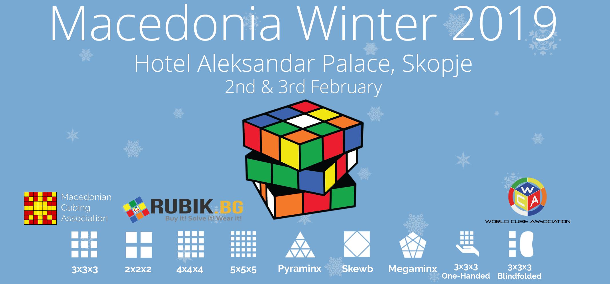 Macedonia Winter 2019: Втора натпревар во брзо местење на рубикова коцка (speedcubing) во Македонија